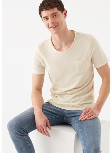 Mavi  Basic Tişört Bej